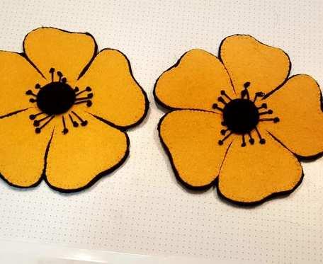 Podkładka - pomarańczowe maki