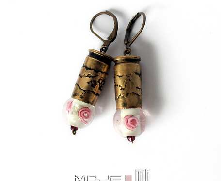 Kaliber różany - kolczyki