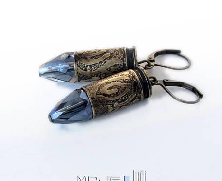 Kaliber 9 - błękitny pocisk - kolczyki