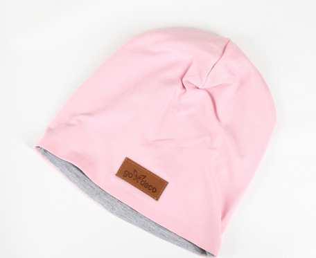 Kolorowa czapka beanie uniwersalna różowa