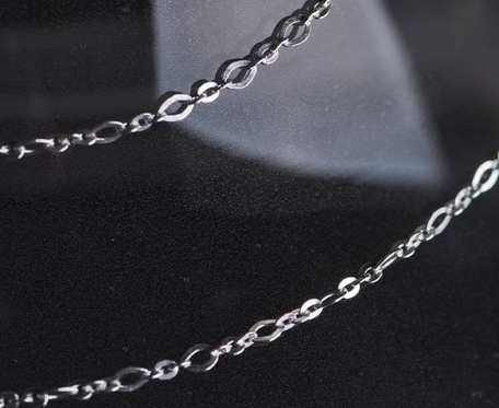 Srebrny łańcuszek typu rolo
