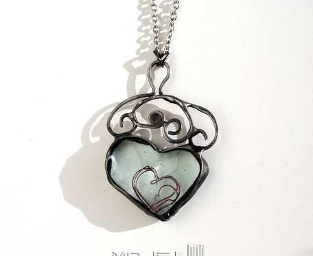 Serce w sercu - wisiorek