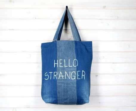 Wegańska torba na ramię dżinsowa Hello Stranger