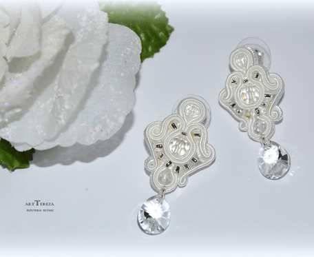 kolczyki sutasz wkręty z kryształami