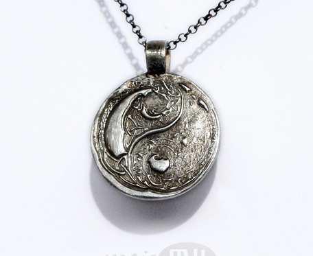 Yin i yang w deseniu - wisiorek