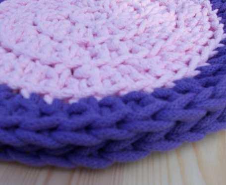 Podkladki różowo-lawendowe 31 cm