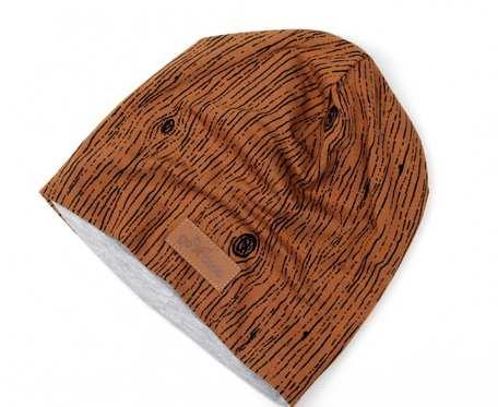 Kolorowa czapka beanie uniwersalna brazowa