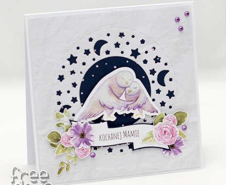 Kartka na Dzień Matki z wiankiem KDM19003