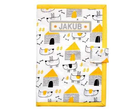 Okładka na książeczkę zdrowia dziecka Pieski - żółte