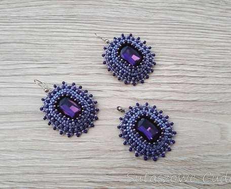 Komplet z kryształkami