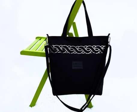 Czarna torebka z tkaniny zamszowej Amanda II black