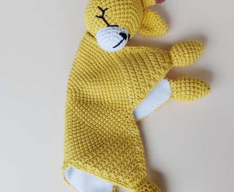 Przytulanka - Żółta Żyrafa , długości 30 cm