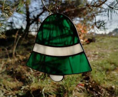 Szklana zawieszka dzwonek (witraż) #5