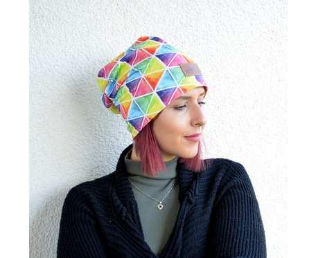 Kolorowa czapka beanie uniwersalna