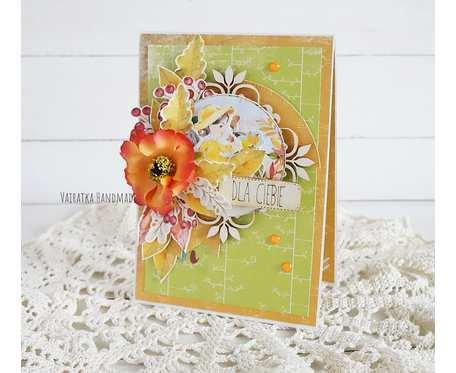 Jesienna kartka urodzinowa, w pudełku, 739