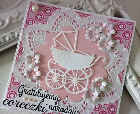 Kartka gratulemy narodzin córeczki