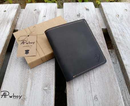 Kompaktowy portfel męski, czarny