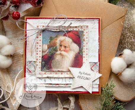 Wyjątkowa kartka na Święta Bożego Narodzenia. Personalizowana treść. Koperta ekologiczna.