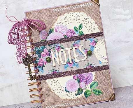 Romantyczny notes różany