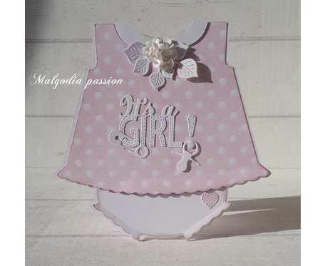 Kartka sukieneczka na Narodziny