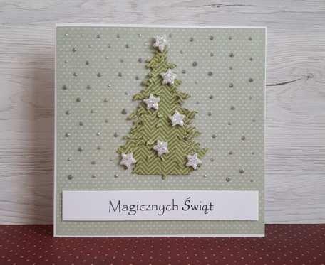 Kartka z choinką Boże Narodzenie