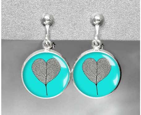 Klipsy wiszące regulowane- listki serca