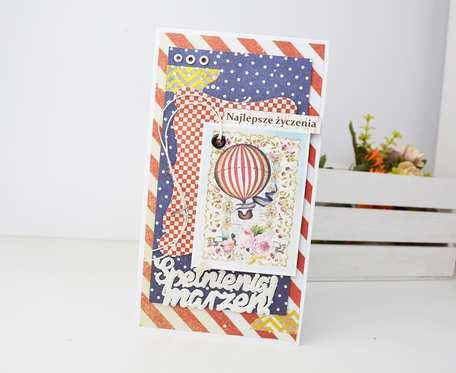 Kolorowa kartka z balonem