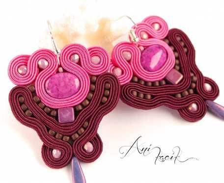 Kolczyki z jaspisem różowym