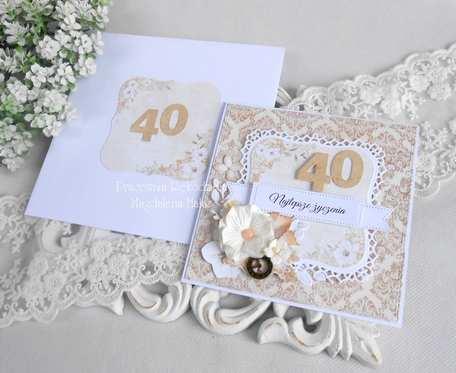 Kartka z okazji 40 urodzin w kopercie 19
