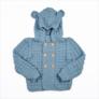 Sweter Niebieski Miś Merynos Dziecięcy