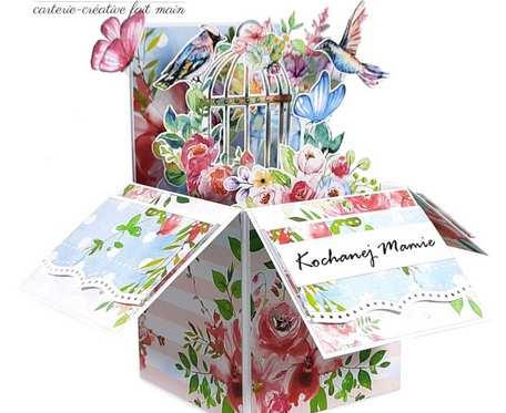 Kartka 3D pudełko pop up dla Mamy Dzień Matki