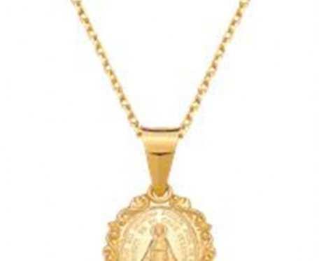 Naszyjnik-medalik z wizerunkiem Matki Boskiej