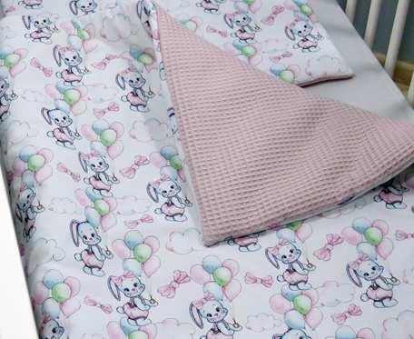 Pościel niemowlęca z wypełnieniem - bawełniany wafel i bawełna premium