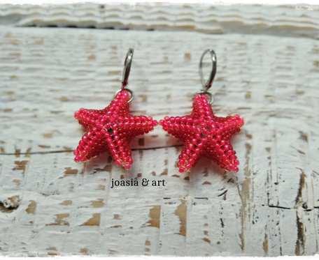 czerwone rozgwiazdy koralikowe