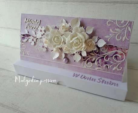 Kartka ślubna kopertówka w pudełku