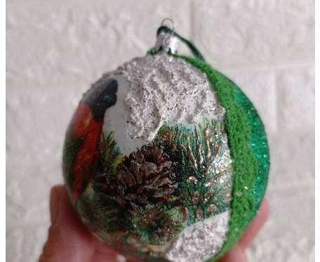 Ręcznie wykonane bombki Boże Narodzenie