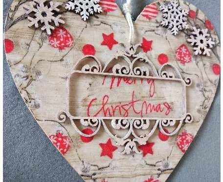 Ręcznie wykonane serca zawieszki na Boże Narodzenie