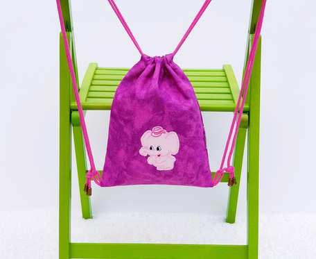 Plecak – Worek różowy z różowym słoniem