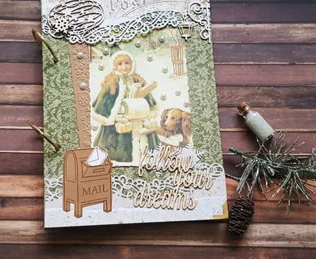 Pamiętnik w stylu vintage na zimowe zapiski