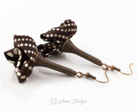Kolczyki Silk kropeczki
