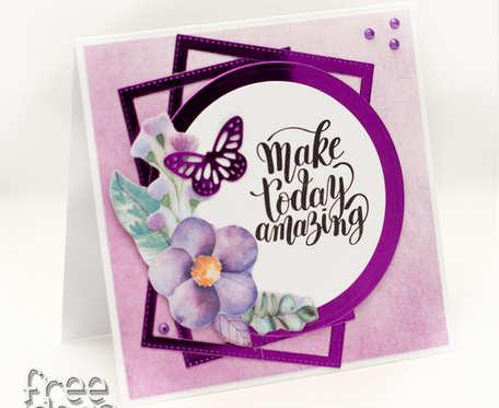Kartka urodzinowa - Make today amazing KU1960