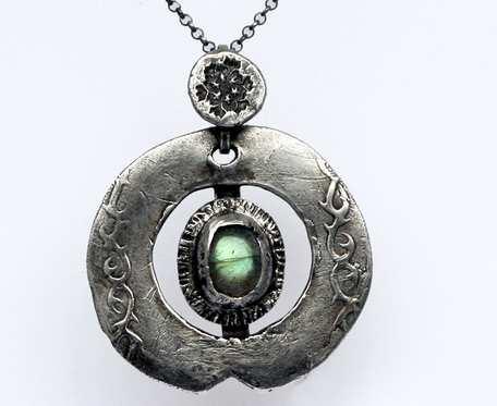 Oko smoka - wisior srebrny