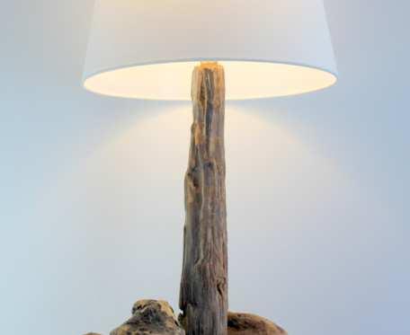 lampa z drewna z morza   nr 43