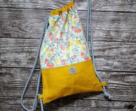 Worko plecak - kwiaty z miętą