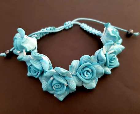 Bransoletka Blue Flowers