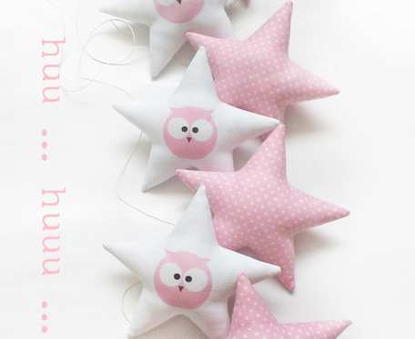OWL - girlanda pink