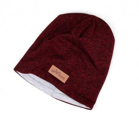 Kolorowa czapka beanie uniwersalna melanżowy czerwony