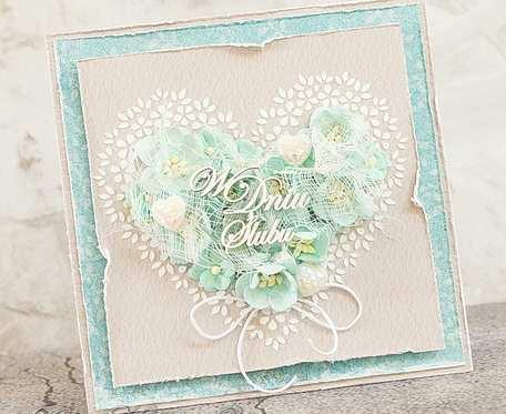 Ślubne serce turkusowe