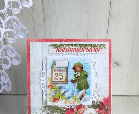 Kartka świąteczna Magiczny Czas 3 GOTOWA