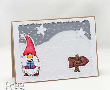 Skrzat na biegunie - Kartka świąteczna KBN1939